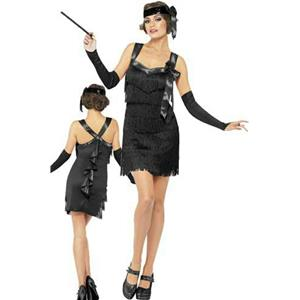 Smiffy's Fever Women's Flapper Foxy Black Costume Size Medium 10-12