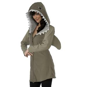 Shark Hoodie Jacket Adult Size Fish Costume Jacket