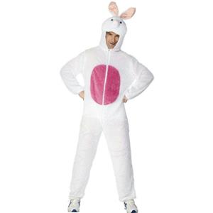 Smiffy's Easter Bunny Rabbit Adult Costume with Hood Size Large