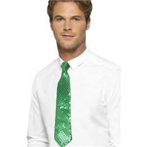 Smiffy's Green Sequin Long Tie