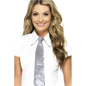 Smiffy's Silver Sequin Long Tie