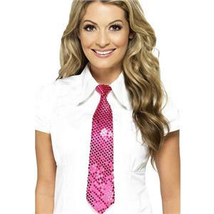 Smiffy's Pink Sequin Long Tie