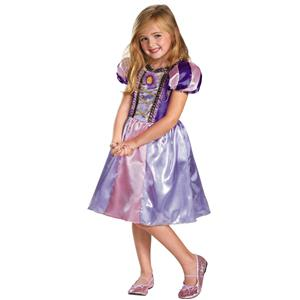Disney's Tangled Rapunzel Sparkle Classic Girls Costume Small 4-6