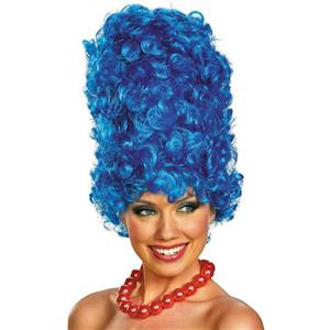 Marge Simpson Deluxe Adult Blue Beehive Wig