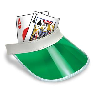 Blackjack Visor Adult Poker Hat