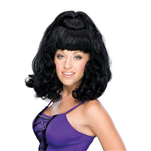 Black Curly Partial Up Do Spicy Girl Wig