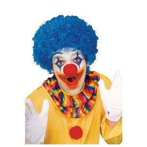 Blue Afro Clown Wig