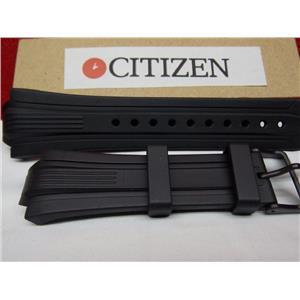 Citizen Watch Band BN0095 -08E Black Rubber Strap Eco Drive WR-200 Watchband