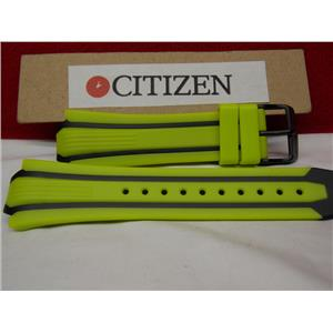 Citizen Watch Band BN0095 -16E Green/Yellow Rub Strap Eco Drive WR-200 Watchband