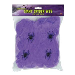 Giant Purple Spider Web Decoration Creepy Webbing