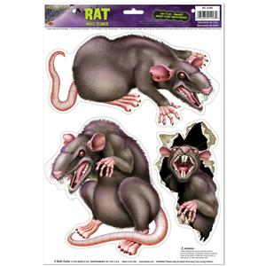 Peel 'N Place Rats Halloween Decoration Decal Cling Stickers
