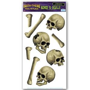 Peel 'N Place Bones & Skulls Halloween Decoration Stickers