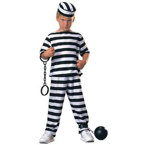 Child Prisoner Boy Costume Convict Child Costume Size Large