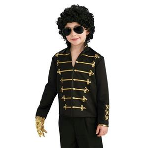 Michael Jackson Black Military Jacket Halloween Costume Child Size Small 4-6