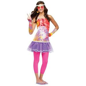 Age of Aquarius Hippie Juniors Teen Girls Costume Size 0-9