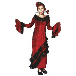 Deluxe Senorita Girls Child Costume Dress Size Small 4-6