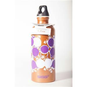 Sigg .6 Liter Aluminum Water Bottle  Wuthering Polka