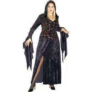 Dark Vixen Covenant Plus Size Hooded Velvet Dress Adult Costume