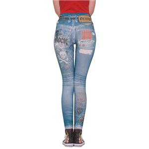 Grunge Rock Graphic Jean Leggings XS/S (2-6) Jeggings
