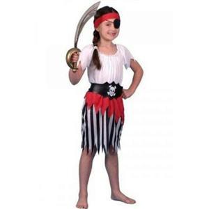 Pirate Girl Child Costume Dress Size Small 3-5