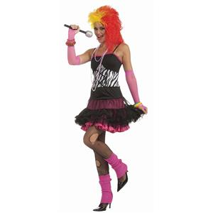 1980's Dance Party Princess Reversible Adult Ladies Costume