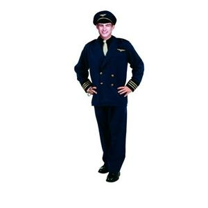 Flight Captain Pilot Adult Costume XL chest 42-50