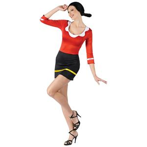 Fun World Women's Sexy Olive Oyl Adult Costume Popeye Sailor Wife S/M 2-8