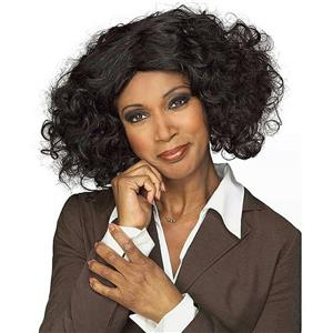 Female Talk Show Host Queen Black Short Curly Wig