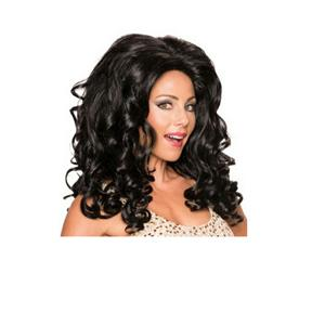 Women's Black Felicity Frappuccino Big Curly Wig