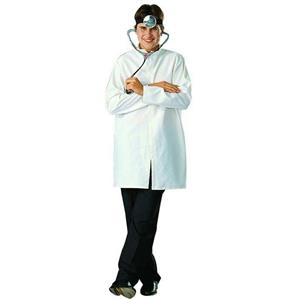 Doctor Lab Coat (White) Poplin Adult Costume Size Standard