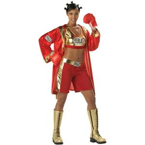 Everlast Boxer Chick Sexy Contender Adult Costume Size XL 12-14