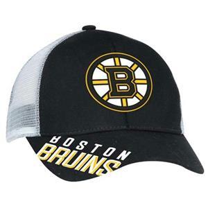 Boston Bruins Reebok Mesh Back Trucker Hat Adjustable