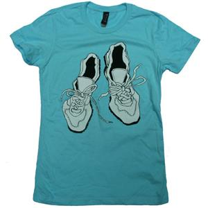 Weevil Worn Shoes tee Shirt Women's
