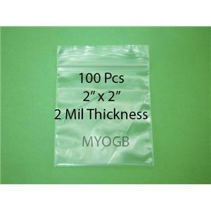 "100pcs 2"" x 2"" Zip Lock Plastic Bags-Storage-Jewerly-Parts-Gold Nuggets"