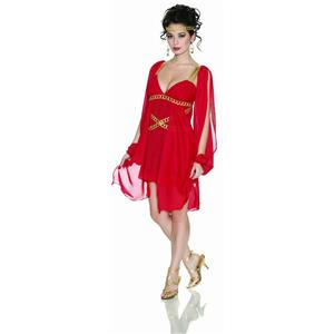 Delicious Grecian Goddess in Red Sexy Adult Costume M/L