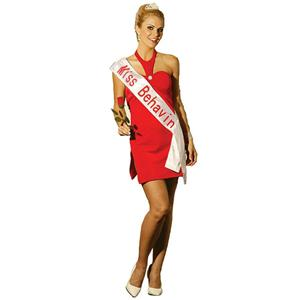 Beauty Contest Winner Miss Behavin Adult Sexy Costume Red Dress Size Small 2-6