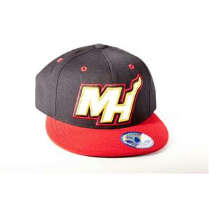 Adidas Miami Heat Basketball Fitted Hat 7.375