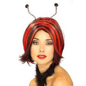 Luscious Red and Black Ladybug Lady Bug Wig