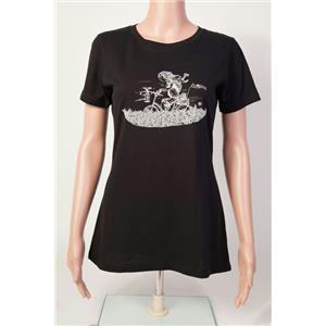 Club Ride Biker Girl T-Shirt Women's Black