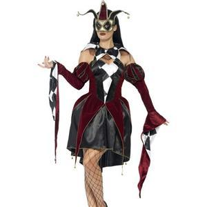 Gothic Venetian Harlequin Female Costume Size Medium