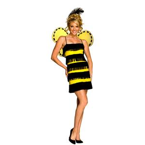 Women's Bumble Bee Mine Flapper Adult Sassy Costume XS 2-4