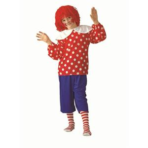Rag Doll Boy Child Costume Size Small 4-6