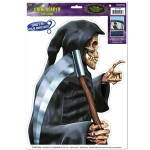 Grim Reaper Backseat Driver Car Cling Window Sticker