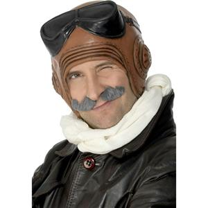 Adult Latex Vintage Fighter Pilot Costume Hat