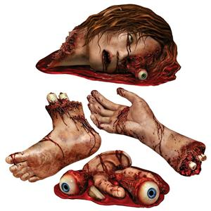 Body Part Cutouts Halloween Party Decor
