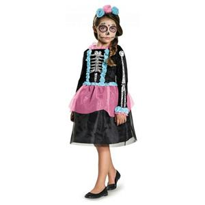 Sweet Skeleton Girls Costume Size Small 4-6X