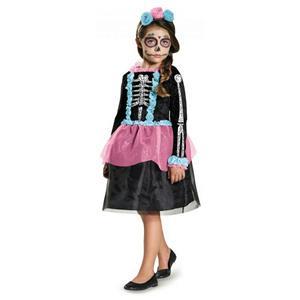 Sweet Skeleton Girls Costume Size Large 10-12