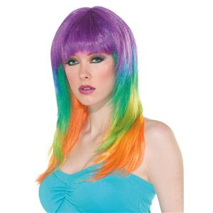 Club Candy: Candy Prism Multi-Colored Long Layered Wig with Bangs