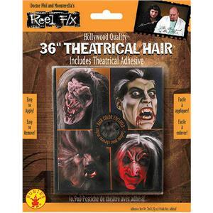 Reel F/X 36'' Black Theatrical Crepe Hair