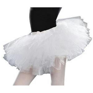 White Tulle Junior's S/M 5-7 Costume Tutu Petticoat